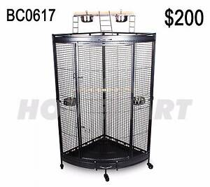 Large Corner Parrot Aviary Bird Cage With Play Roof Top Ladder Richlands Brisbane South West Preview