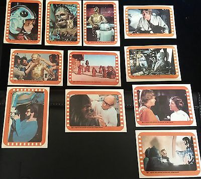 1977 Star Wars MINT Series 5 STICKERS SET Topps Vintage Cards 11 ORANGE Complete