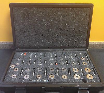 Federal Master Setting Pneumatic Ring Plug Gauge Set 39 Rings 21 Plugs Case