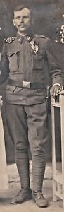 AUSTRIA HUNGARY 1914s - WWI - THE SOLDIER GROOM WITH AWARDS AND BAYONET - <span itemprop='availableAtOrFrom'>VIENNA , AUSTRIA, Österreich</span> - AUSTRIA HUNGARY 1914s - WWI - THE SOLDIER GROOM WITH AWARDS AND BAYONET - VIENNA , AUSTRIA, Österreich