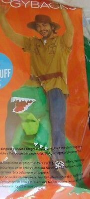 Riding T Rex Costume (Adult Costume Piggyback T-Rex Ride On Halloween Dinosaur Morphipiggybacks)
