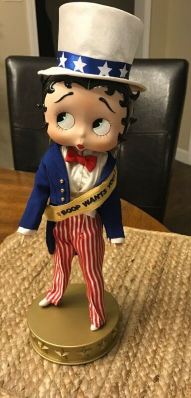 """Extremely Rare 10"""" Danbury Mint Betty Boop Porcelain Doll """"Boop Wants You 2000"""""""