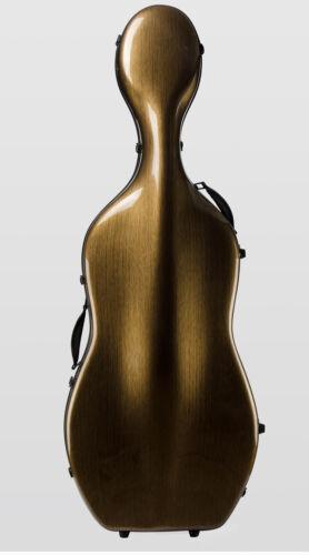 Liyin Cello Case 4/4 Cello Case Carbon fiber Cello Hard Case-Brown#017
