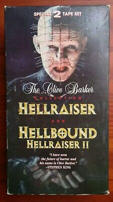 Hellraiser  Hellbound II 2 Double VHS Tape Set Clive Barker Collection Horror - Halloween Vhs Box Set
