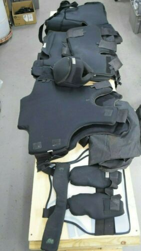 Hitman Black Prisoner Extraction Riot Gear Body Suit Helmet Chest Protection