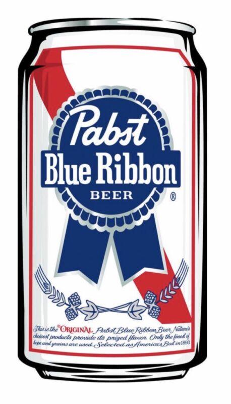 """PBR: PABST BLUE RIBBON BEER: Vinyl Sticker 5""""x 3"""" .  BUY 2 Get 1 FREE!"""