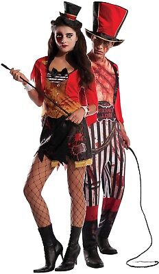 Couples Mens AND Ladies Zombie Circus Halloween Fancy Dress Costumes Outfits](Halloween Outfits Couples)