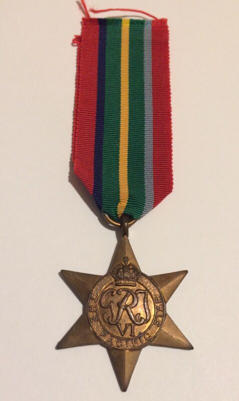 Original WW2 Pacific Star Medal - Genuine Full Size
