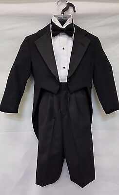 Boys Size Black Tuxedo Tailcoat Cheap Toddlers Halloween Costume Stage Dracula