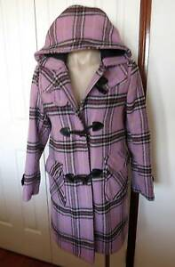 Purple Checker Coat with Hood – Size 8 Equivalent Alderley Brisbane North West Preview