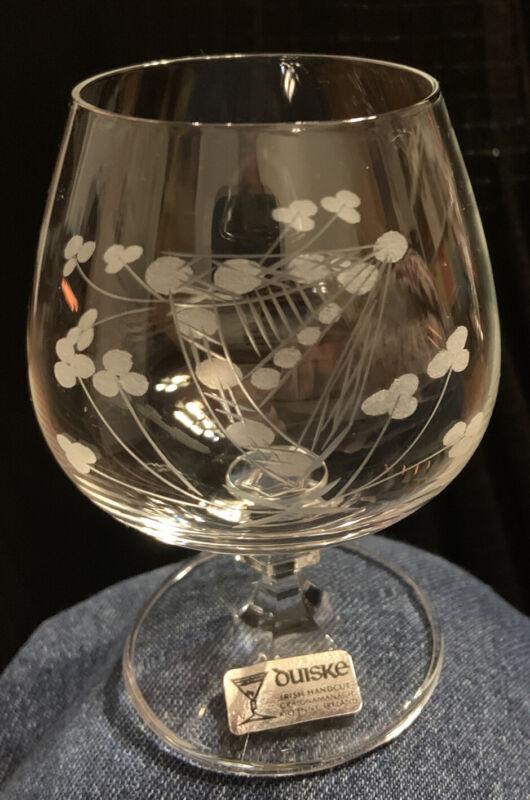 duiske irish handcut glass 6 Brandy Balloons