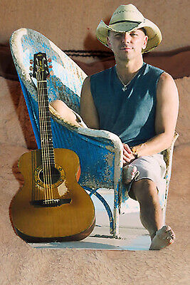 """Kenny Chesney """"Country Music Star"""" Color Tabletop Display Standee 10"""""""