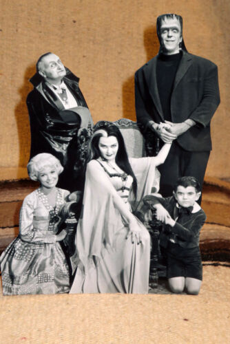 "The Munsters Cast TV Show Figure Tabletop Display Standee 10"" Tall"