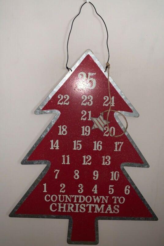 Primitives by Kathy Metal Christmas Countdown Tree Advent Calendar