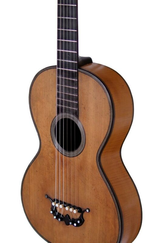 19th Century Guitar by Remy (Limoges, France), c.1840.