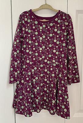 Tea Collection size 5 Girls Purple Snowflake Dress