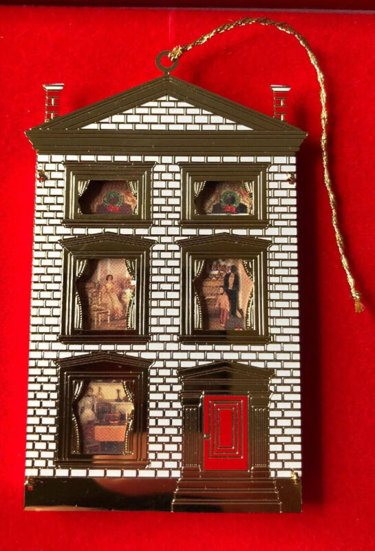 B&G DR. SATTERLEES HOUSE Dollhouse Christmas Ornament Collection 24K Gold Plated