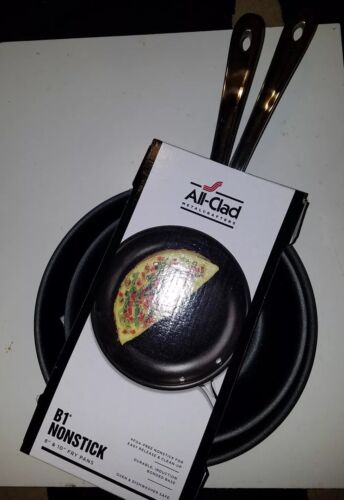 """NEW Set of 2 ALL CLAD B1 Non-stick Skillet Fry Pans 8"""" & 10"""""""