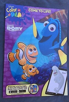 Disney Finding Dory Color and Play Book New Color and Play FREE APP Free Ship