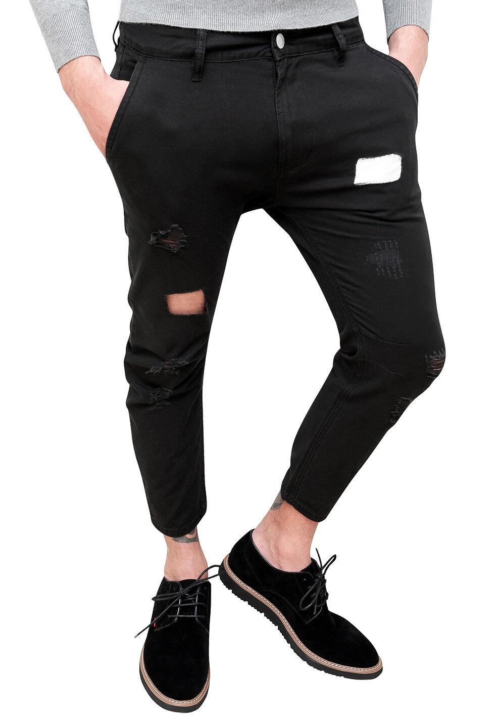 Capri Nero Pantalone Pantalone Pantalone Uomo Pantalone Capri Nero Uomo Uomo Nero Capri mfgIbY6yv7