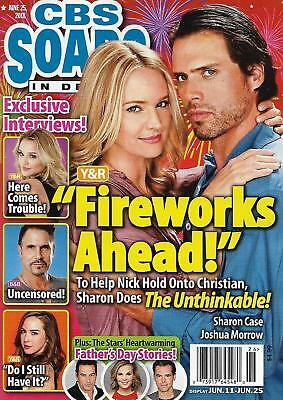 Cbs Soaps In Depth Magazine June 25 2018 Joshua Morrow   Sharon Case
