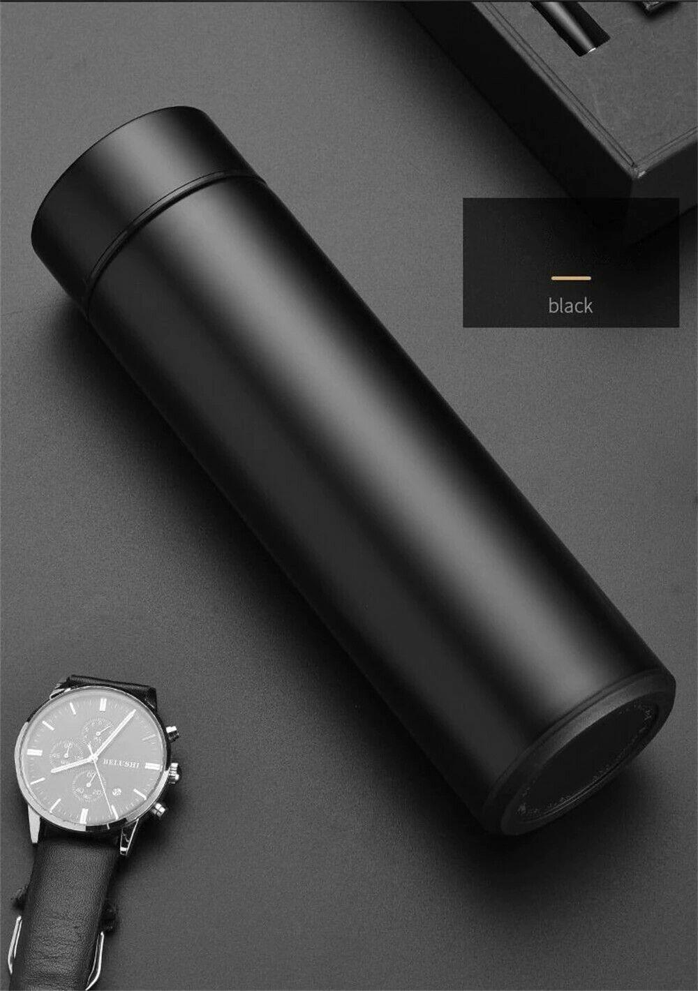 Termos 500ML in acciaio inossidabile, con termometro, isolamento fino a 24 ore
