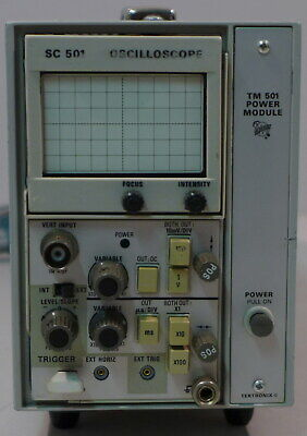 Tektronix Sc501 Oscilloscope Plug In With Tm501 Chassis Tested And Working