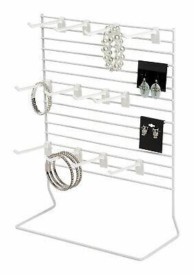 12-peg White Wire Countertop Rack - 12w X 15h