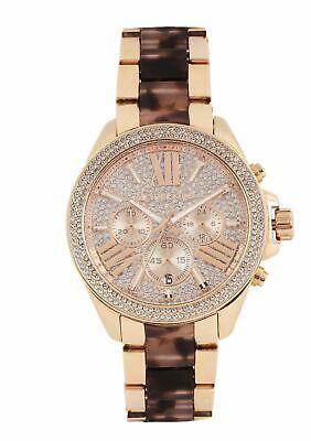Michael Kors MK6159 Wren Two Tone Rose Gold Tortoise Wrist Watch for Women
