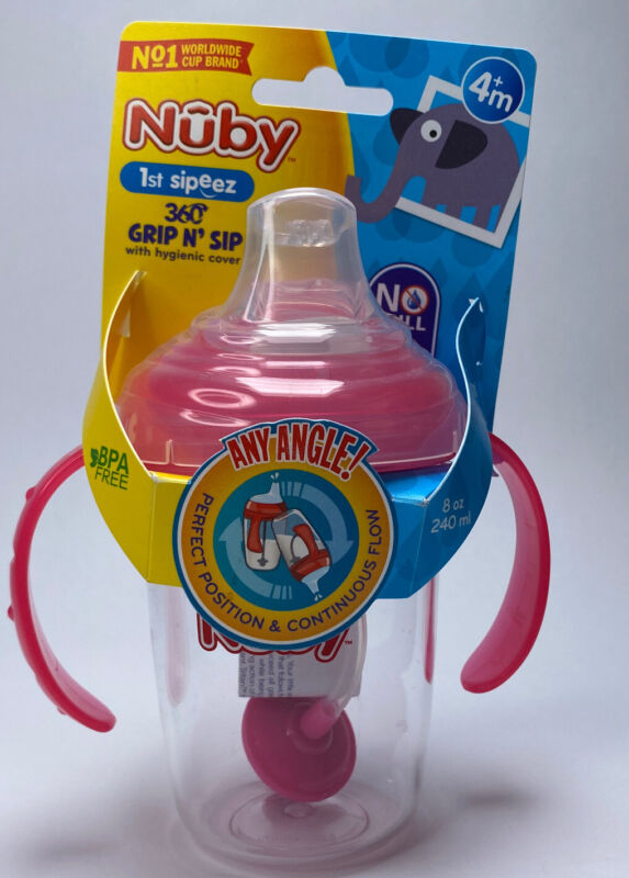Nuby No Spill 360 Weighted Straw Grip N