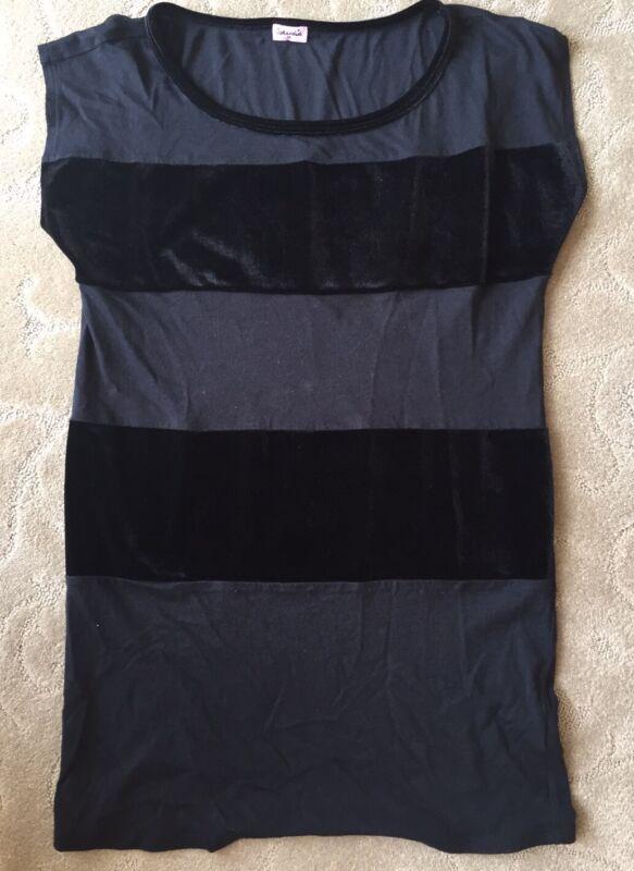 Splendid Black Short Sleeve Knit Top~M, Girl's 14~USA