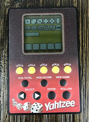 YAHTZEE Electronic Handheld Credit Card Games 2004 Parker Brothers -