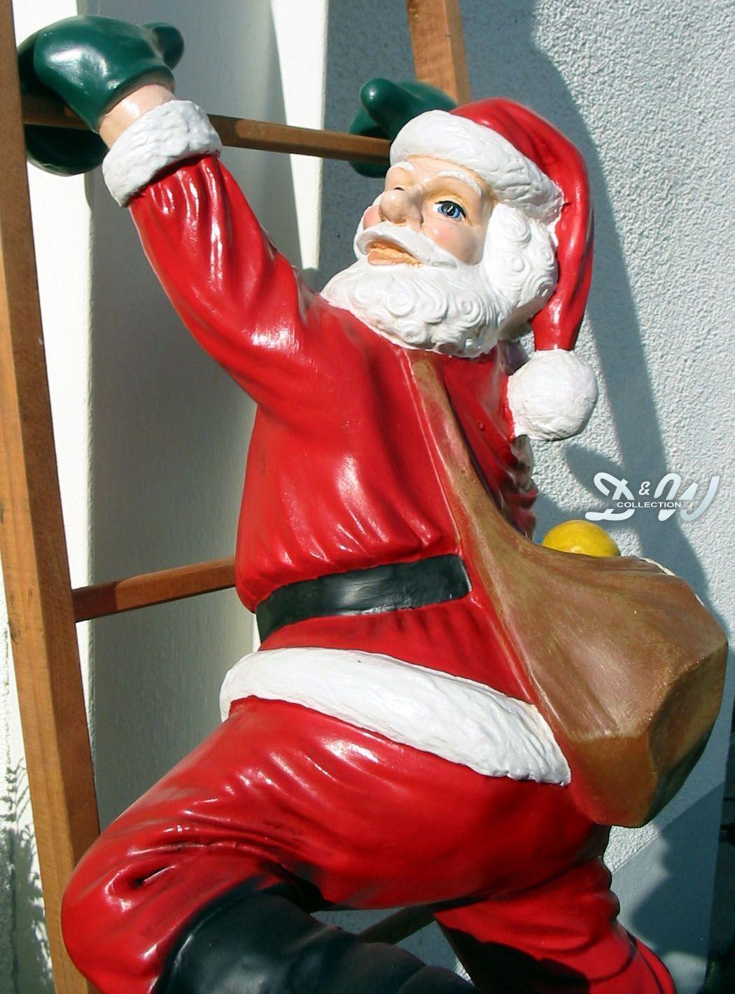 Weihnachtsmann nikolaus h ngend mit leiter deko weihnachten weihnachtsdeko eur 129 00 - Weihnachtsdeko hangend ...