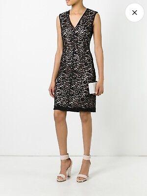 NWOT Lanvin Abito sleeveless V-neck fitted lace dress, sz 40 (US 8)Org. $2,255