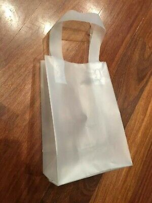 Clear Frosty Shopper Gift Retail Bag Uline S-7257 10pack - 8 x 5 x 10. NEW 4Mil