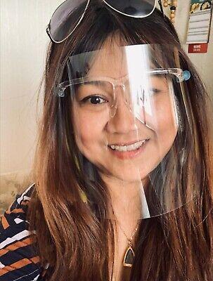 Mund- Nasen und Augenmaske Profi Face Shield Plexiglas Schutz 1A frei atmen TOP