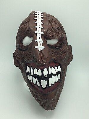 Adult/Teen OSFM Scary FOOTBALL HEAD Mask Teeth Fanatic Super Bowl Halloween - Super Scary Masks
