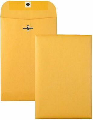Brown Kraft Catalog Clasp Envelopes Gummed Seal 6 X 9 25 Each