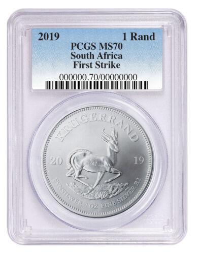 2019 South Africa 1 oz Silver Krugerrand PCGS MS70 FS SKU56612