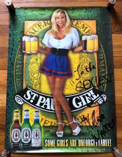 St. Pauli Girl RARE original poster (autographed)