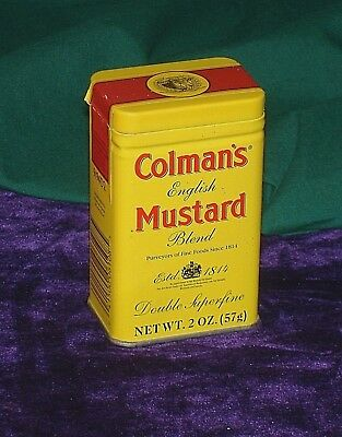Colman's English Mustard Tin  - Colmans Original English Mustard