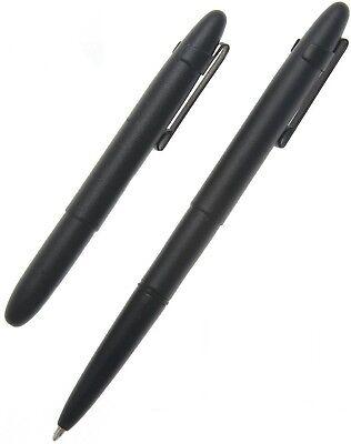 Fisher Space Pen Matte Black Bullet w/ Clip 400BCL NEW Black Matte Space Pen