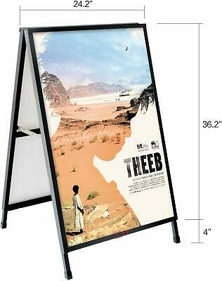 T-sign Heavy Duty Slide-in Folding A-frame Sidewalk Sign 24 X 36 Inch Black Coat
