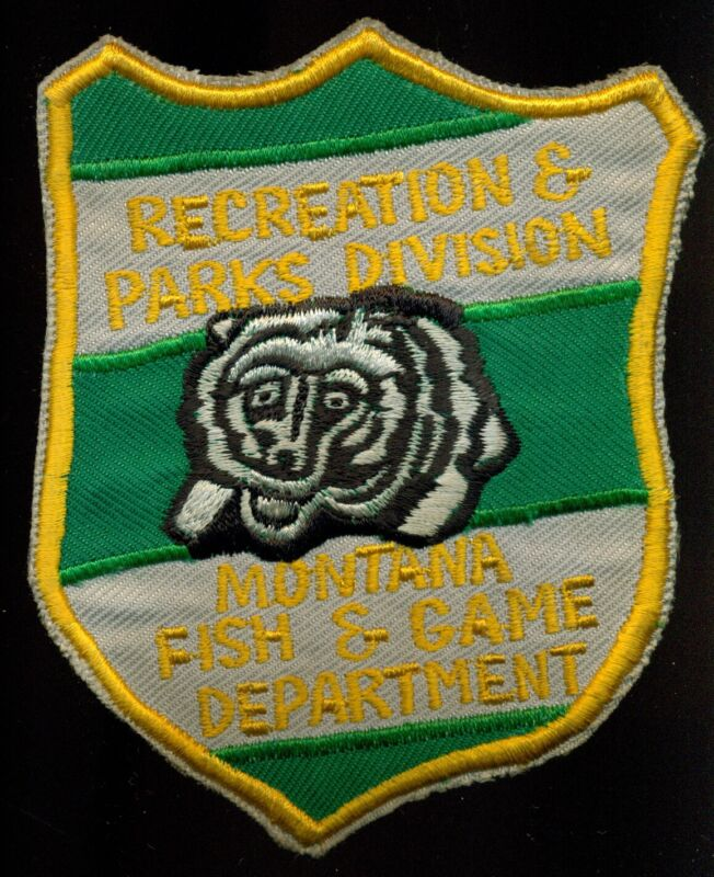 Montana Fish & Game Department Recreation & Parks Division Police Patch N29