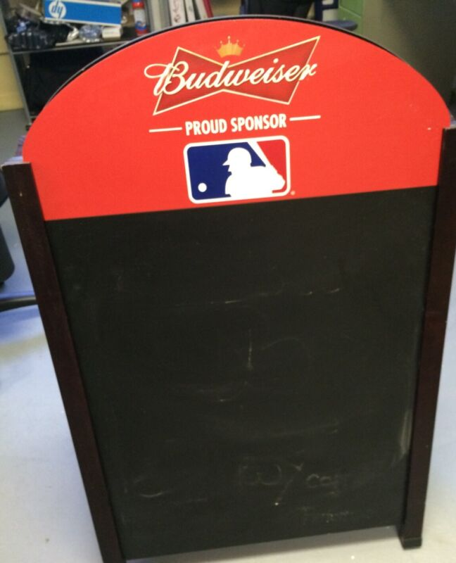 BUDWEISER STAND UP MENU  BOARD DOUBLE  CHALKBOARD