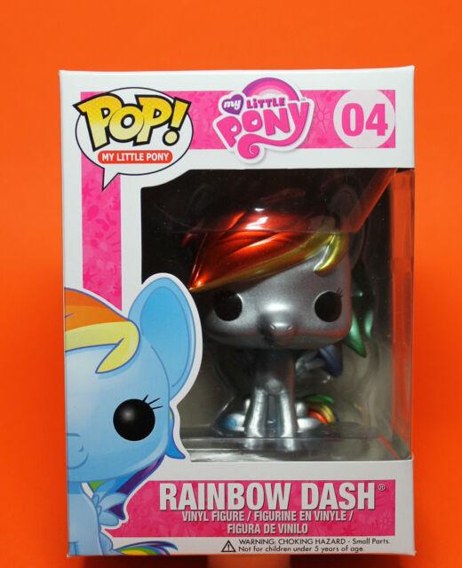 FUNKO POP MY LITTLE PONY #04 RAINBOW DASH (METALLIC) GEMINI COLLECTIBLES VINYL !