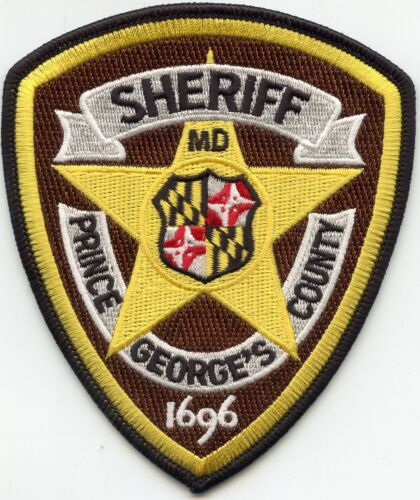 PRINCE GEORGES COUNTY MARYLAND MD Brown Background SHERIFF POLICE PATCH