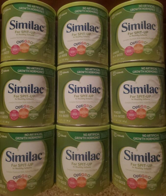 9 cans of Similac For Spit-Up In healthy Infants