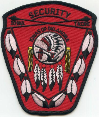 IOWAS OF OKLAHOMA OK IOWA INDIAN TRIBE TRIBAL SECURITY police PATCH