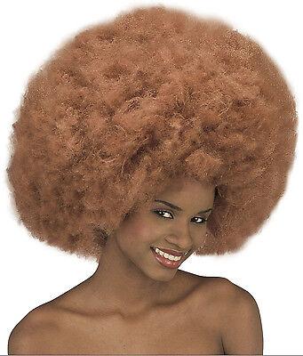 Afro Perücke Shaggy Disco XL Lockenkopf unisex extra buschig  kupfer - braun